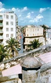 Calle Sol desde el Castillo San Cristóbal (1954)