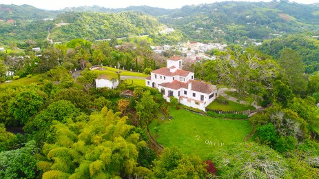 16. Aerial view of El Cortijo and Barranquitas, looking northeast. Apr 13, 2017. Photo 0016. [Drone photo by Guillermo Ortiz].
