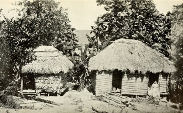 Native huts.