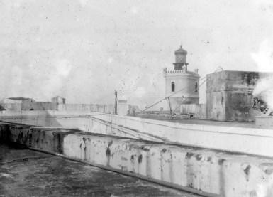 Light House on top of Morro Castle, San Juan, Porto Rico.