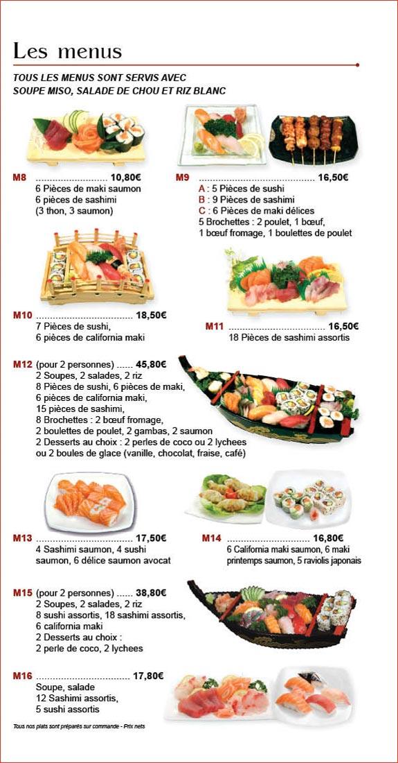 Restaurant japonais aux spcialits japonaises  sushis maki sashimi avec Toyama Wan Houilles