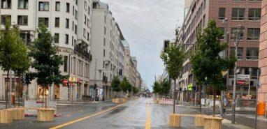 Fuer den Autoverkehr gesperrte Friedrichstraße in Berlin Mitte. © GEOLITICO