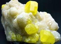Vackra Svavelkristaller, Sicilien