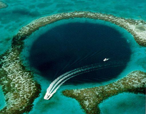 Great Blue Hole, Coast of Belize - a phenomenon of Karst topography. Credit: U.S. Geological Survey (USGS)