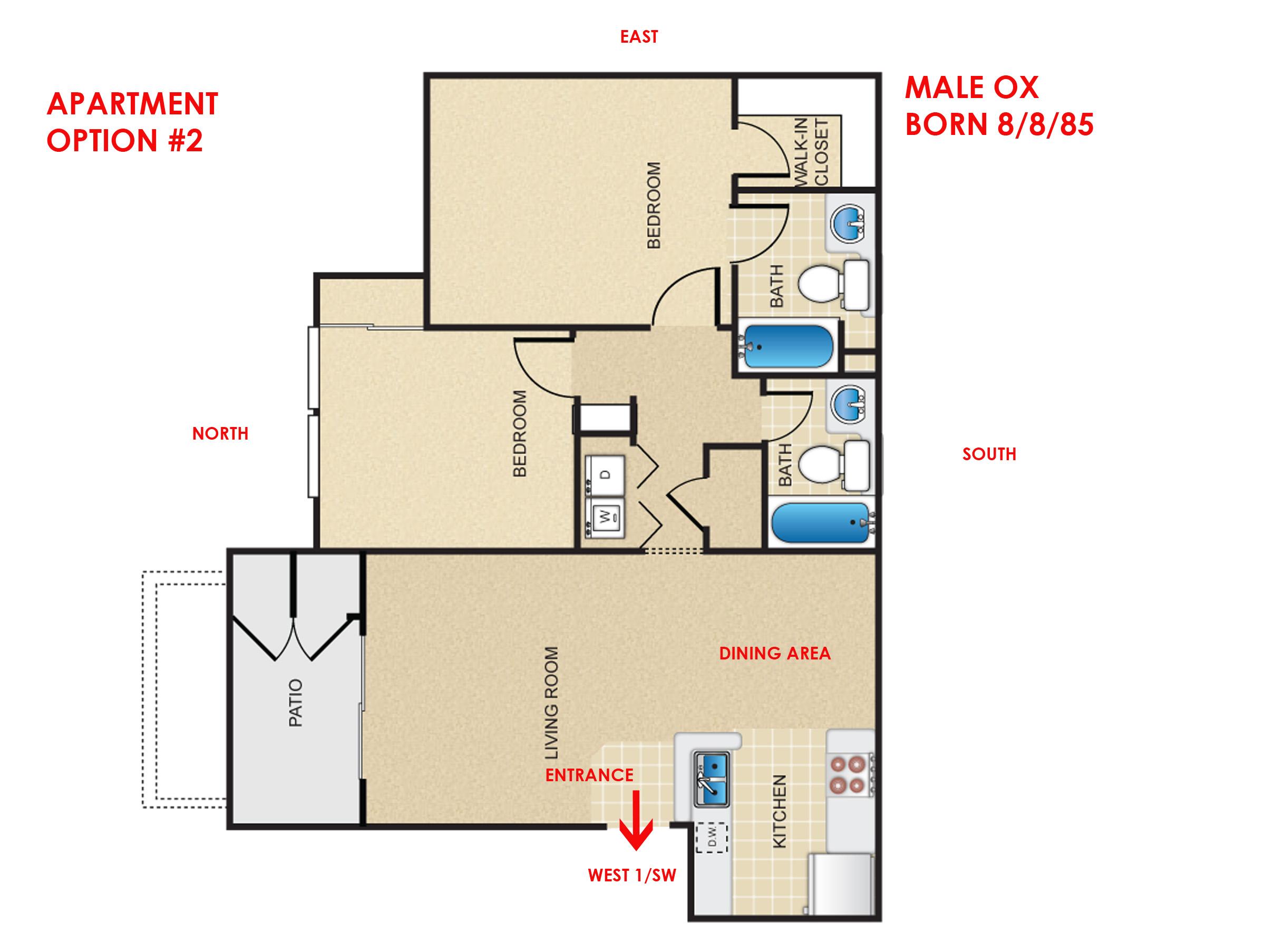 Help with choosing apartment front door direction