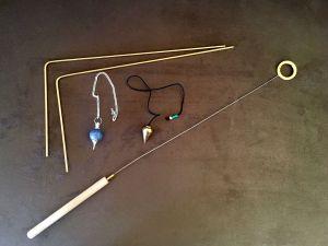 Dowsing rod pendulum bobber