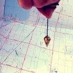 pendulum over map