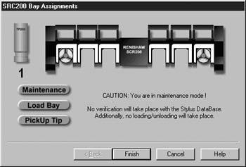 Renishaw MCR20 Stylus Rack Maintenance