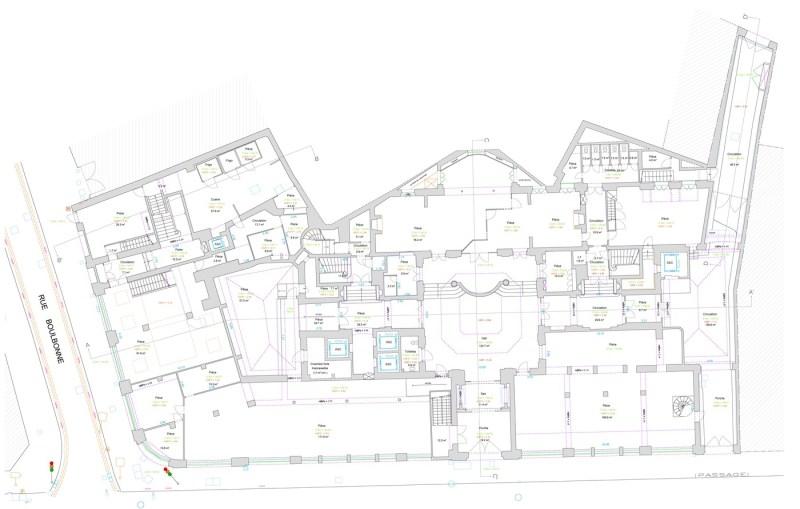 Levé d'architecture : Plan d'intérieur