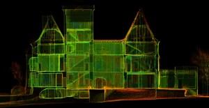Nuage de points utilisé pour le dessin des plans de façades du château