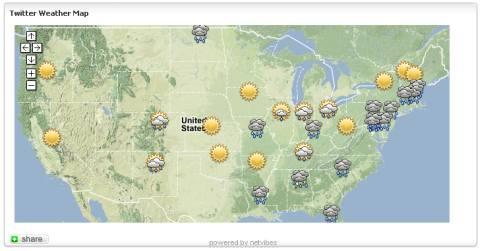 twitter weather map widget