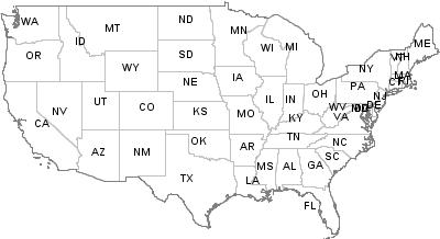 Postal Codes Kansas, United States