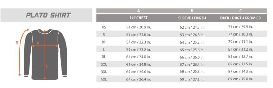 Size-Chart-PLATO-SHIRT