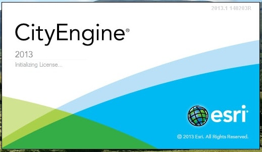 cityengine2013 SR splash screen