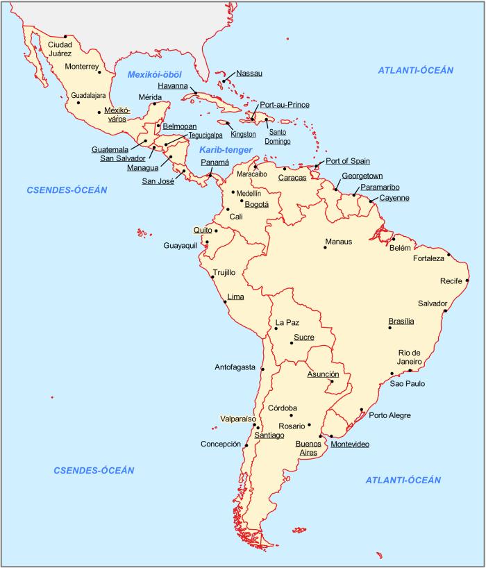 amerika országai térkép Latin Amerika: a félperiféria | PAGEO Geopolitikai Kutatóintézet amerika országai térkép