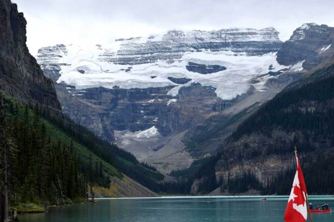 Lake Louise is a glacial cirque lake dammed by a recessional moraine.