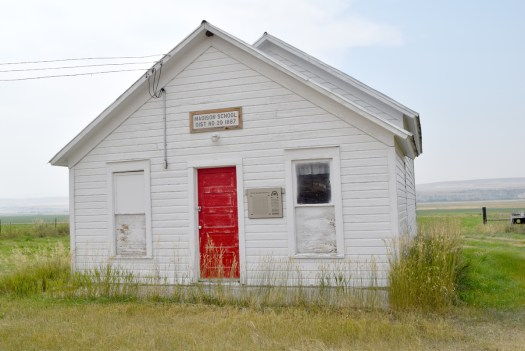 The school house near the Madison Bluffs, southwestern Montana, that Earl Douglass taught at from 1894-1896.