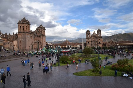 The Plaza de Armas in the UNESCO World Heritage site of Cusco. Our guide told me that there is a celebration in the square 360 days of each year!