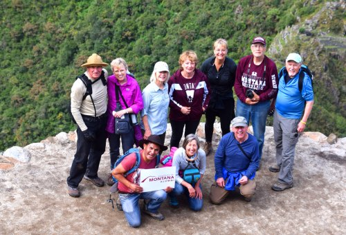 The hike up Huayna Picchu is well worth the effort - especially if it's done with a group from the University of Montana.