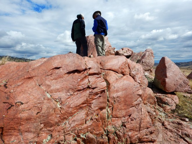 Polished boulders of Precambrian granite are found in the Garrett paleovalley which now lies in the drainage area of the North Laramie River. Wyoming is known for wind and these boulders certainly attest to that.