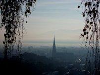 Linz am Morgen vom Bauernbergpark aus