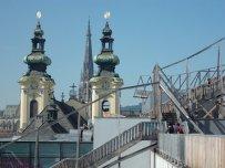 Der hözerne Pfad über den Dächern von Linz