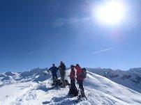 Am Gipfel deds Plattenkogels (2.273m): v.l. Thomas, Wastl, Renate, Dietmar