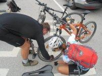 Probleme mit dem Reifen: eine Verwechslung