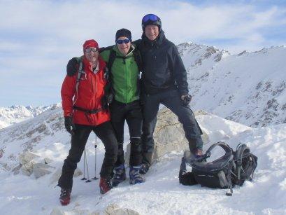Gipfelfoto mit Dietmar und Norbert am Kleinen Pleißlingkeil (2.417m)