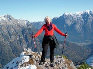 Christa bei der Herbstwanderung 2011 am Gamskarkogel oberhalb der Ostpreussenhütte