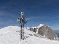Blick vom Kuchler Kreuz zum Gipfel des Hohen Göll