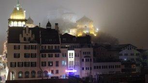 Gespenstisch: die Festung Kufstein im Nebel