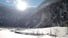 Das Ebenhäusl tief winterlich, aber gut zu Fuß erreichbar