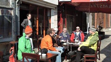 Orientalisches Feeling beim Chai im Bazar von Skopje