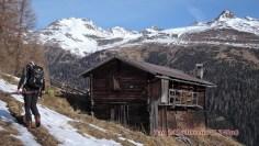 Dietmer beim Austieg kurz unter der Alpe Stalle