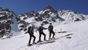 Georg, Klaus und Tim beim Anstieg zur Ragötzl Lenke