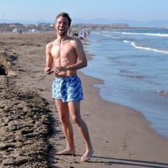 Christoph freut sich aufs Schwimmen