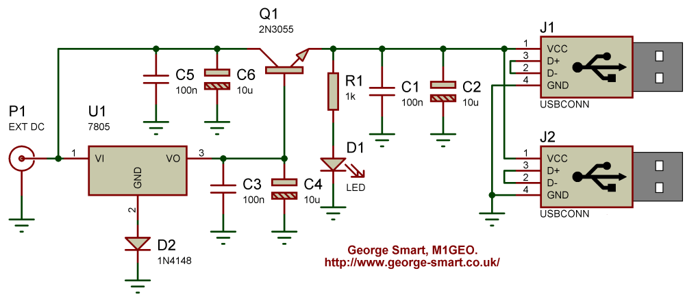 medium resolution of high current 5v regulator george smart m1geo schematic