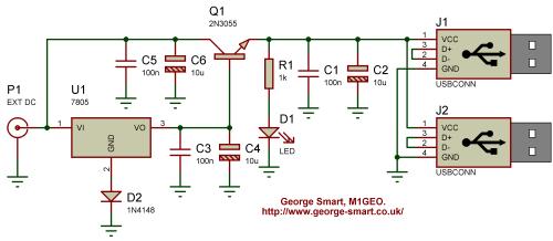 small resolution of high current 5v regulator george smart m1geo schematic