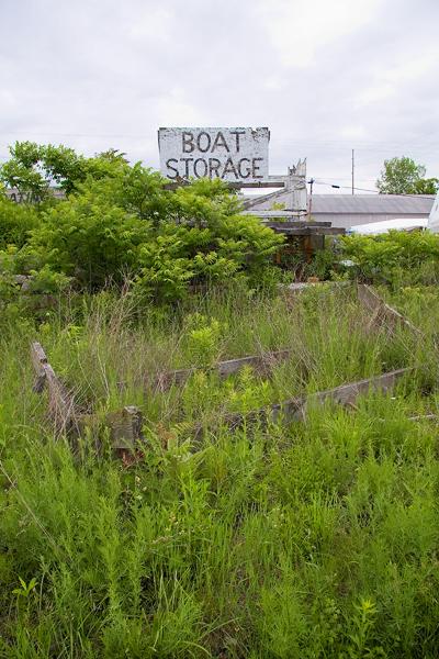 boat storage sign