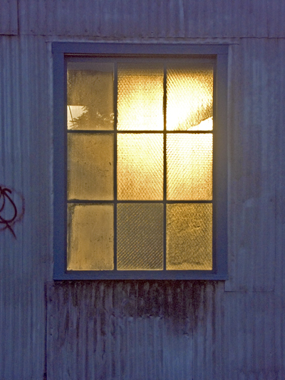 Boatyard window with back light