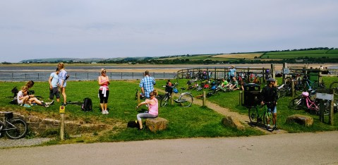 Fremington Group, catching their breath before some head off to Instow