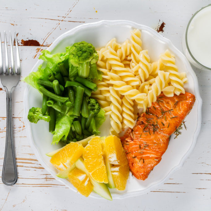 54514932 - my plate portion control guide, top view
