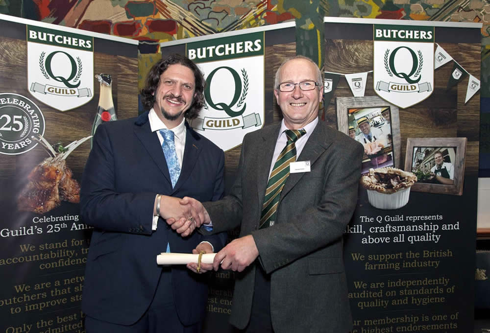 Jay Rayner Celebrity Chef & George Payne At The Q Guild Awards