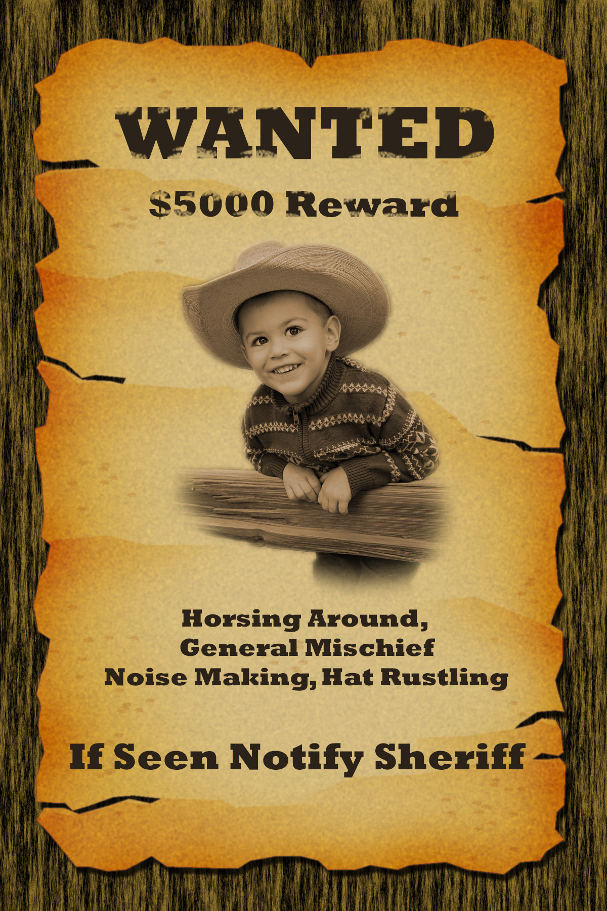 18 Funny Wanted Poster Templates   KittyBabyLove.com