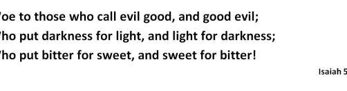 Isaiah 5 20