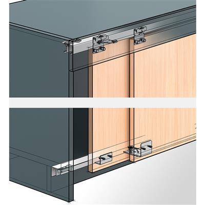 ferrure coulissante de meuble hettich topline 25 27 pour porte rentrante max 25kg par panneaux