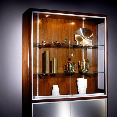 ferrure coulissante pour porte de meuble en verre vitris supra epaisseur 5 6 et 8mm max 25 50kg par battant
