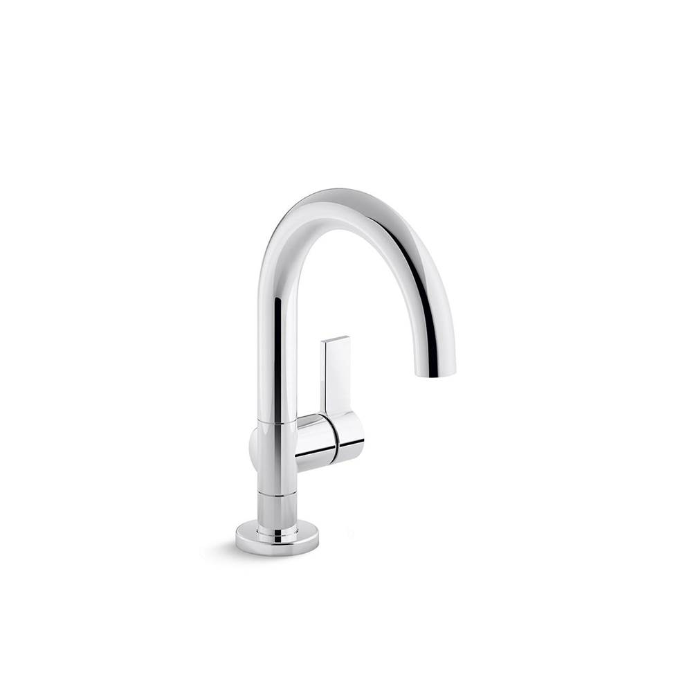 one single control sink faucet gooseneck spout
