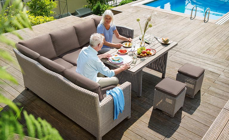 garden corner sofa with dining table small sleeper sofas canada outdoor living furniture george street furnishers palma set